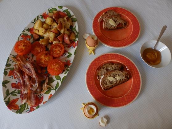 simple Western-style breakfast